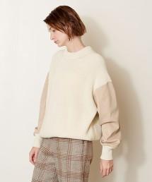 <AEWEN MATOPH> 拼接 畦編 套頭毛衣 日本製