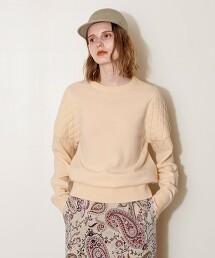 <AEWEN MATOPH>绗縫 針織罩衫