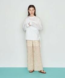 <AEWEN MATOPH>刺繡 蕾絲長褲 日本製