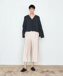 <AEWEN MATOPH>仿皮革 打摺 寬褲 日本製
