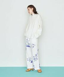 <Kentarou Tanaka for AEWEN MATOPH>C/LI 花朵印花 長褲 日本製