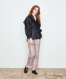 <AEWEN MATOPH>棉 幾何學 打摺褲 日本製