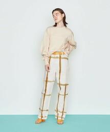 <AEWEN MATOPH>H/DYE 白色牛仔褲 WHITE 日本製