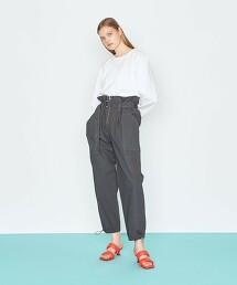 <AEWEN MATOPH>2口袋  高腰 腰帶長褲 日本製