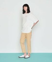 <AEWEN MATOPH>錐形 丹寧褲 BEIGE 日本製