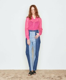 <AEWEN MATOPH>撞色 塗層 牛仔褲 日本製