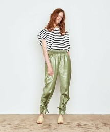 <AEWEN MATOPH>下擺 緞帶 輕便褲 日本製