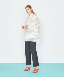 <AEWEN MATOPH>橫條紋 法國袖 T恤 日本製