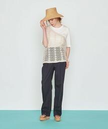 <AEWEN MATOPH>鏤空 單肩帶 針織衫