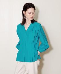 <AEWEN MATOPH> 鮮豔 抽褶罩衫 日本製