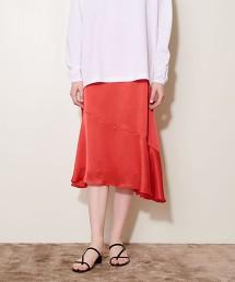 <AEWEN MATOPH> 色丁布 A字裙 日本製
