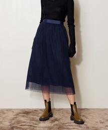 <AEWEN MATOPH>薄紗 圓點 長裙 日本製