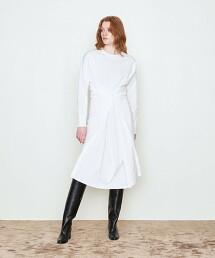 <AEWEN MATOPH>腰釦 T恤材質 洋裝 日本製