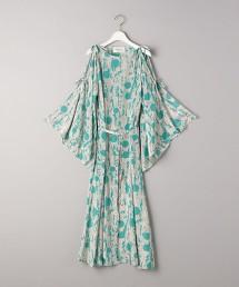 <AEWEN MATOPH>印花綁帶袖洋裝 日本製