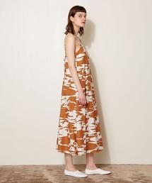 <AEWEN MATOPH> 保護色花紋 吊帶衫 洋裝 日本製