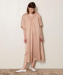 <AEWEN MATOPH>緞面A連身裙 日本製